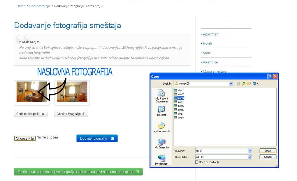 Tara - postavljanje oglasa - uputstvo slika 2.