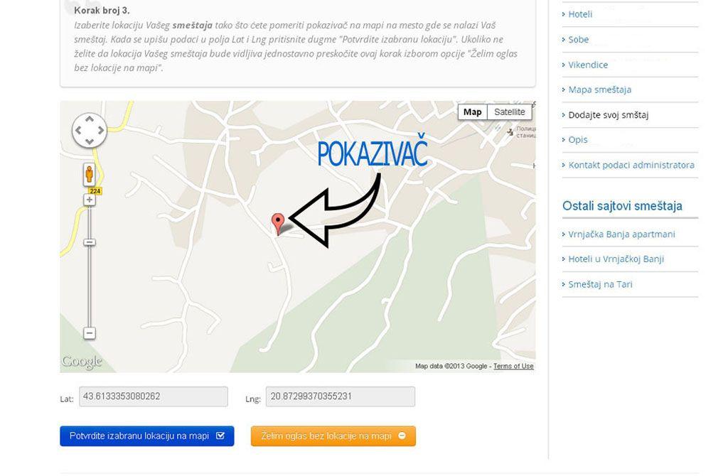 Goč - postavljanje oglasa - uputstvo slika 3.